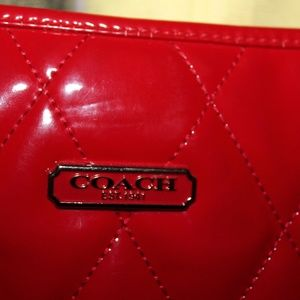 Coach Poppy Liquid Gloss Slim Tote